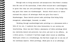 first two paragraphs of McIntosh's seminal paper