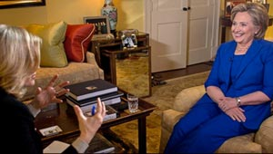 screenshot from Diane Sawyer Hillary clinton interview