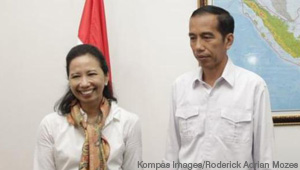 Rini Mariani Soemarno Soewandi '80 and Jokowi Widodo