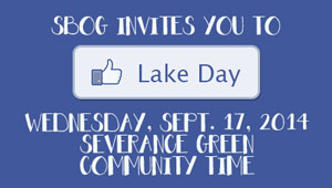 graphics inviting you to lake day september 17