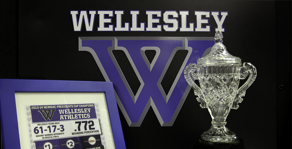 trophy with logo