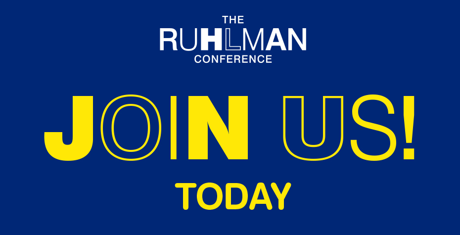 Graphic: Ruhlman Conference, join us today