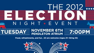 graphic announcing election watching event