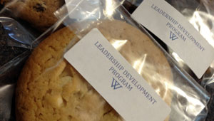 "cookies labeled ""Leadership Development Program"""