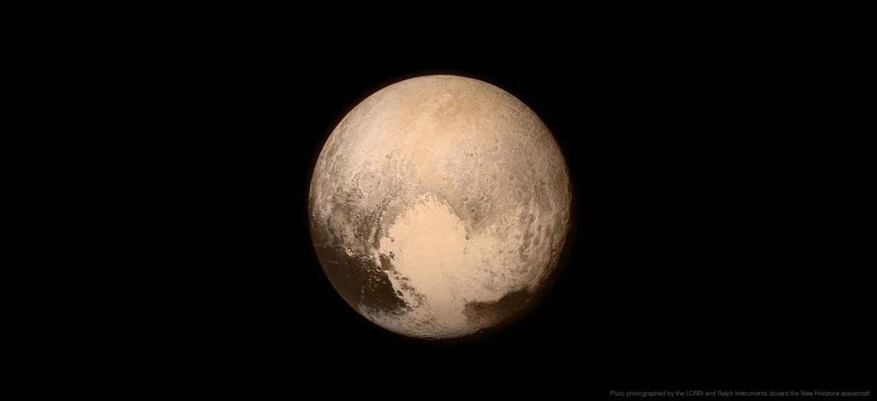 A photo of Pluto taken by NASA's New Horizons Spacecraft