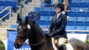 Emma Slade-Baxter on Obie at Nationals