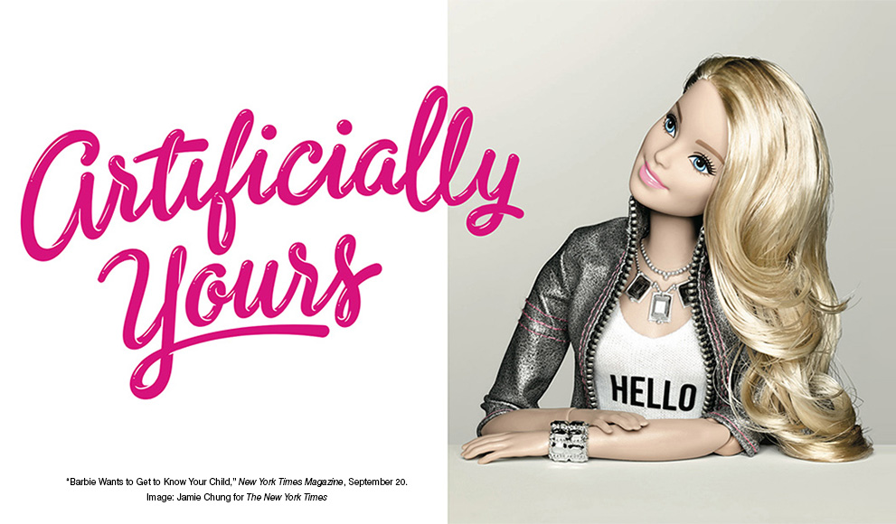 Image from New York Times Magazine Story on New Artificially Intelligent Barbie