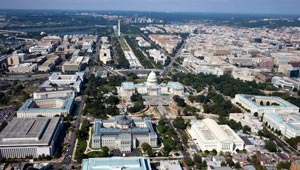aerial view of DC from Library of Congress