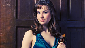 Audrey Wozniak and violin