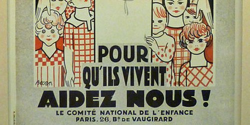 French Poster with children