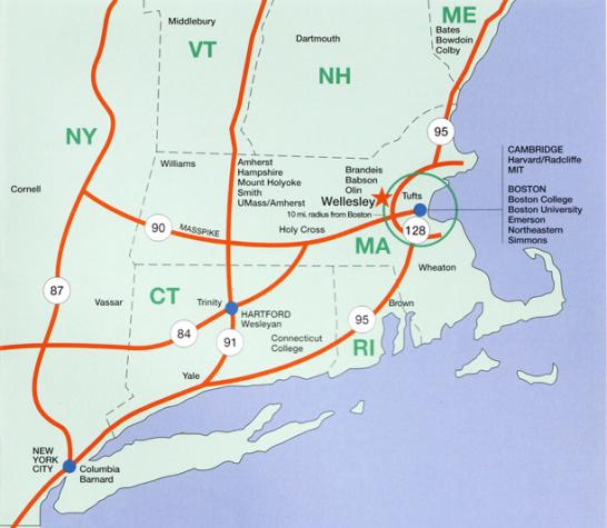 Colleges In New England >> Map Of Colleges In New England Ceciliaszabo