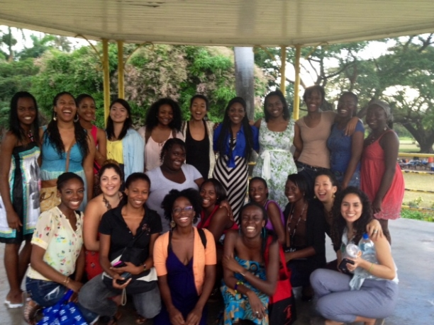 AFR 300 students at the University of West Indies