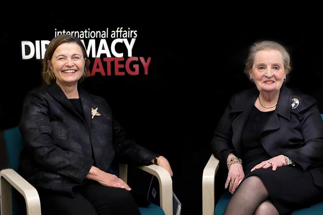 Kim Bottomly with Madeleine Albright