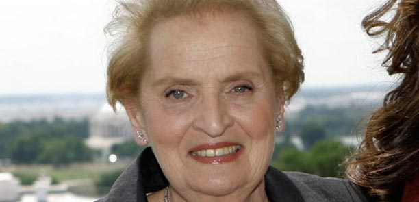 Sundance Channel photo of Madeleine Albright with Washington in distance