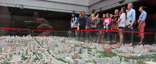 Group visits Beijing Planning Museum