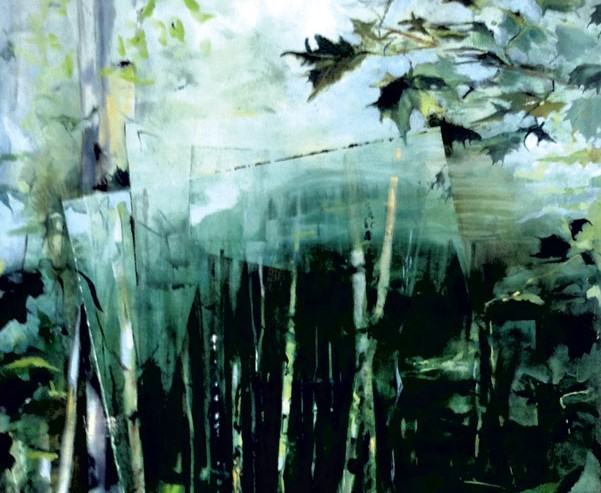 semi-abstract landscape painting by Bunny Harvey
