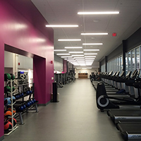 Fitness center with treadmills and ellipticals