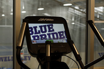 Elliptical with Blue Pride as the home screen