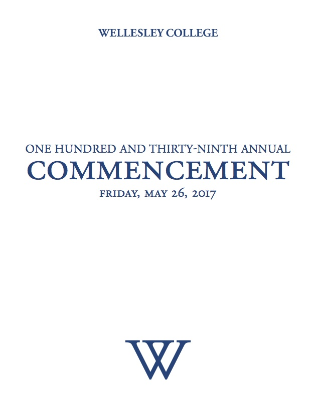 2017 commencement program