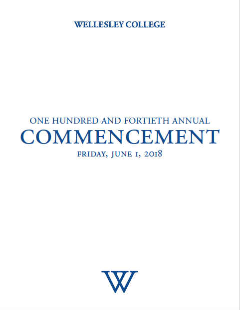 2018 commencement program