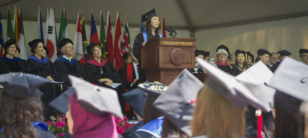 Grace Park was the student speaker