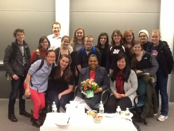 CS Students with Dr. Latanya Sweeney