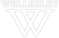 Wellesley College logo white