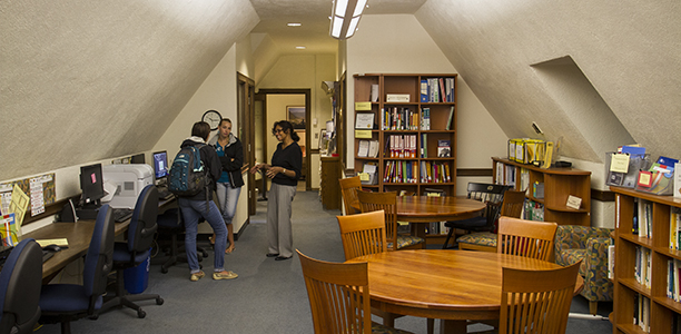 people meeting in CWS library