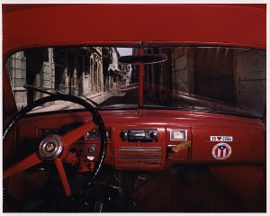 Alex Harris and Jorge Alberto Roja, Plymouth, View of Haban Vieja Street (calle Sol y Cuba) Facing North, 1998. Color print, 47 x 59 in. Gift of the artist, 2001.52