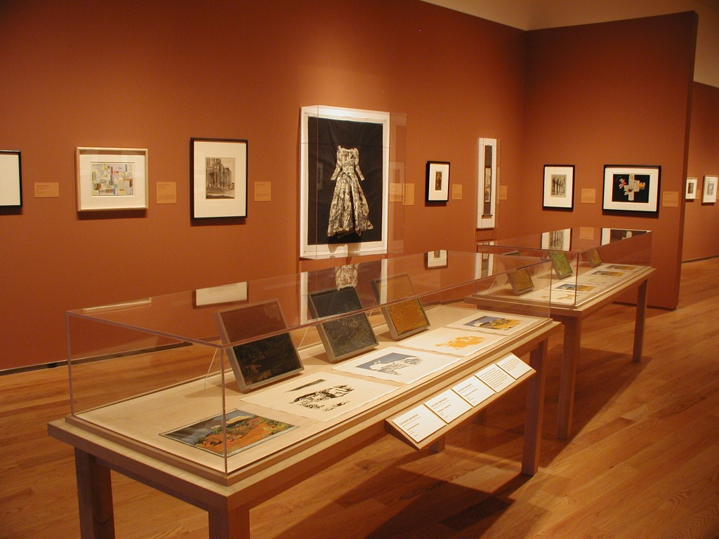 Installation view, American Identities: Twentieth-Century Prints from the Nancy Gray Sherrill, Class of 1954, Collection, 2004.
