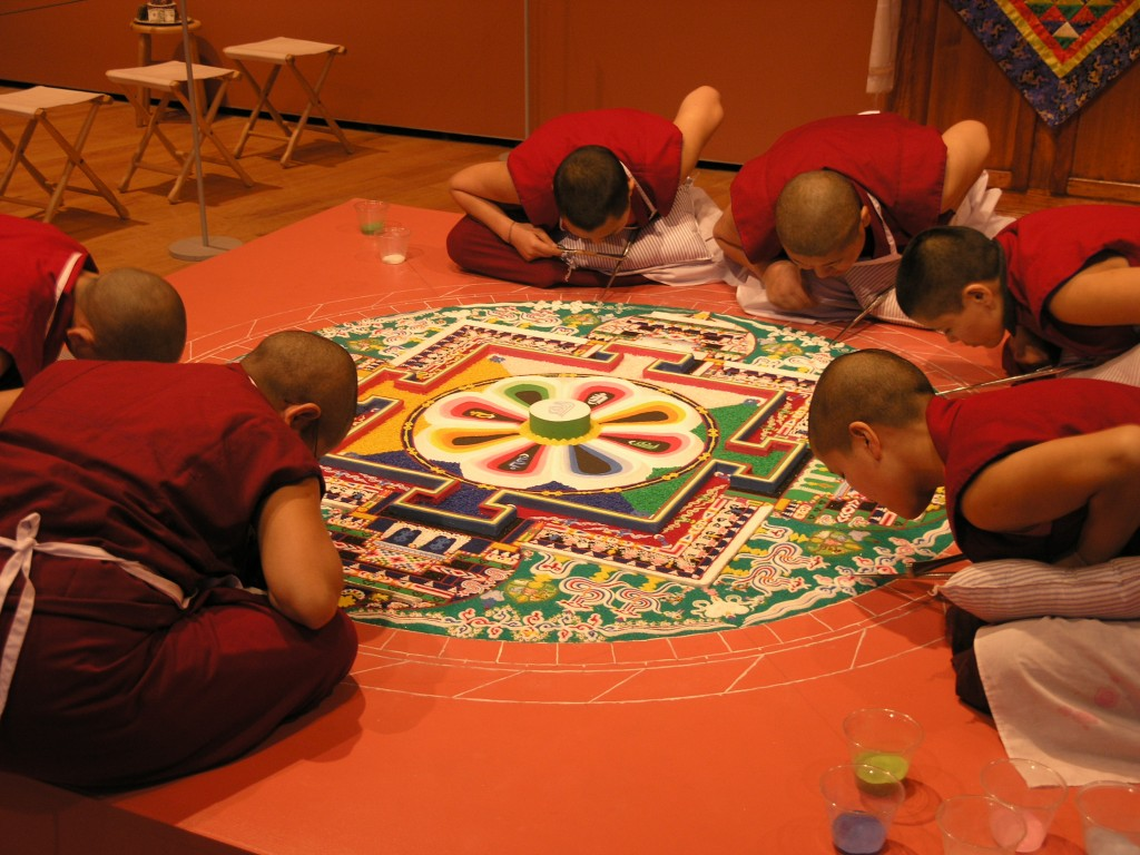 Installation view, Circles of Healing, Circles of Peace: Sacred Sand Mandala Created by Tibetan Buddhist Nuns, 2005.