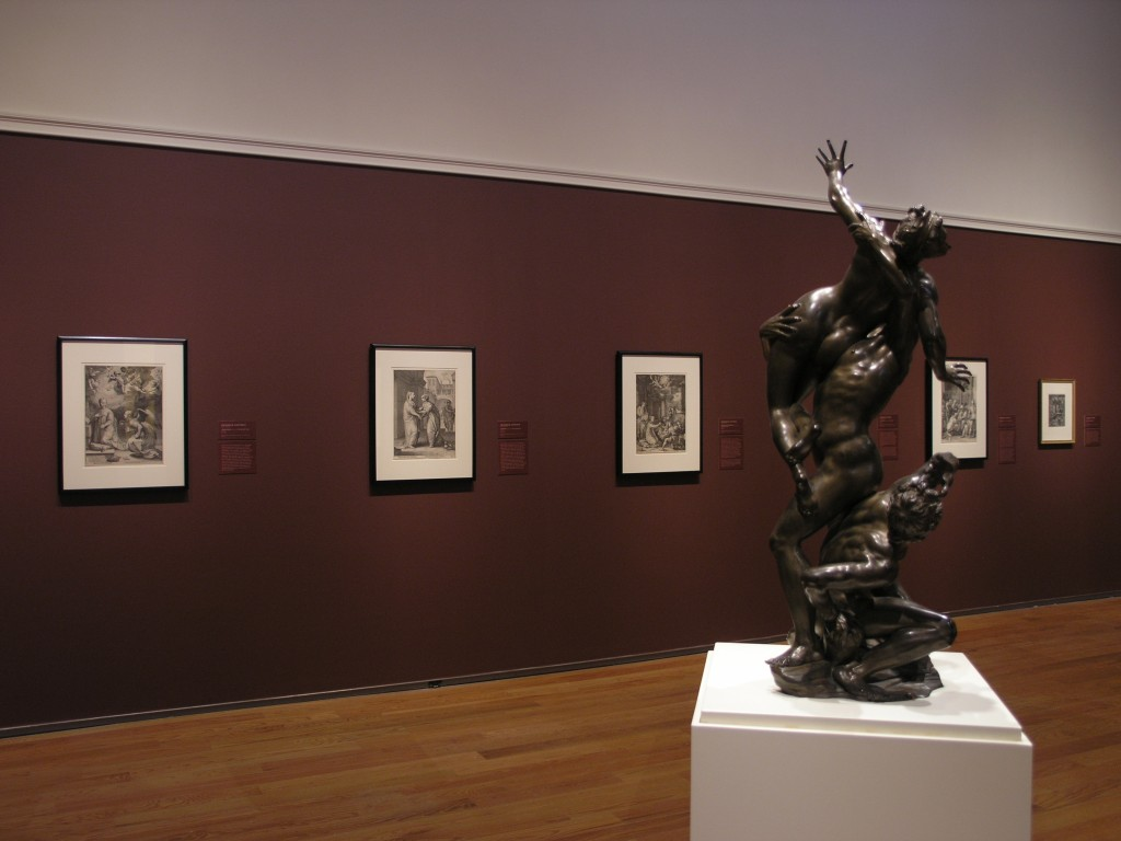 "Installation view, The ""Master Prints"" of Hendrick Goltzius and Mannerist Art, 2005."