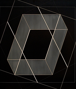Josef Albers, Transformation of a Scheme No. 27 1952 Machine engraving on black vinylite overall: 17 in. x 22 1/2 in. (43.2 cm x 57.1 cm) Gift of Martina Schaap Yamin (Class of 1958) 1999.98
