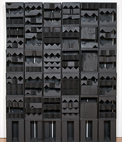 Louise Nevelson, Luminous Zag, 1971 Painted wood overall: 96 in. x 76 in. x 10 in. (243.8 cm x 193 cm x 25.4 cm); base: 18 in. (45.7 cm) Gift of Milly and Arne Glimcher (Mildred L. Cooper, Class of 1961) in honor of Louise Nevelson 1986.2
