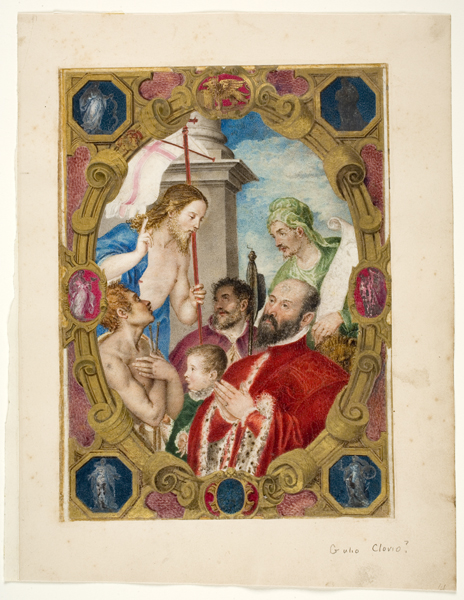 Unknown, Miniature from the Commission to Daniel, Podesta of Treviso, late 16th century, Gouache and gold paint on vellum. sheet: 10 7/16 in. x 8 3/16 in. (26.5 cm x 20.8 cm) Gift of Dr. and Mrs. Malcolm W. Bick (Esther Sagalyn, Class of 1935) 1972.8