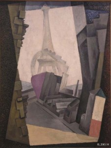 Diego Rivera, The Eiffel Tower, 1914. Oil on canvas, 45 ½ in. x 36 ¼ in. Private collection, lent courtesy of Mary-Anne Martin Fine Art, EL.2003.16