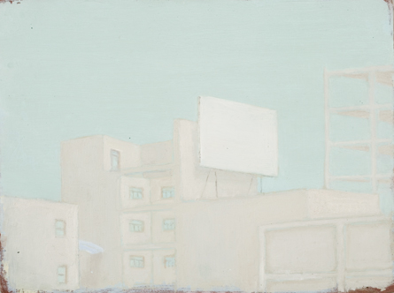 Francis Alÿs, Cityscape (detail), 1996-97. Oil on panel, 4.5 x 6 in.