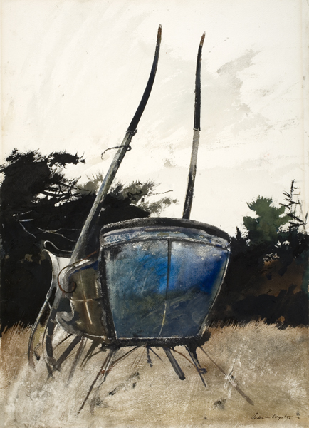 Andrew Wyeth (American, 1917-2009), The Cutter, 1952. Watercolor, 21 x 14 13/16 in. Gift of Anita Wilson Norseen Hooker, Class of 1936, 1999.28