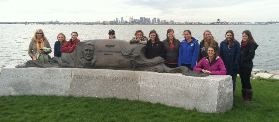 ES 101 students on Boston Harbor island