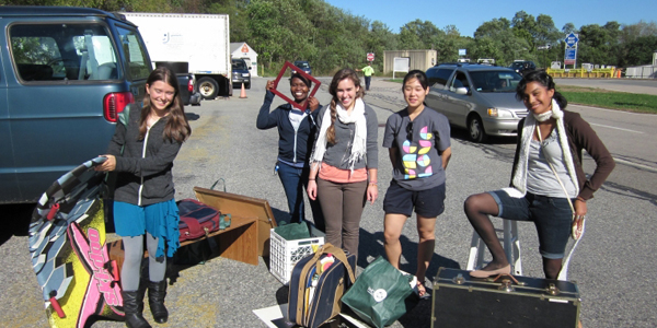 ES students show off treasures from the dump