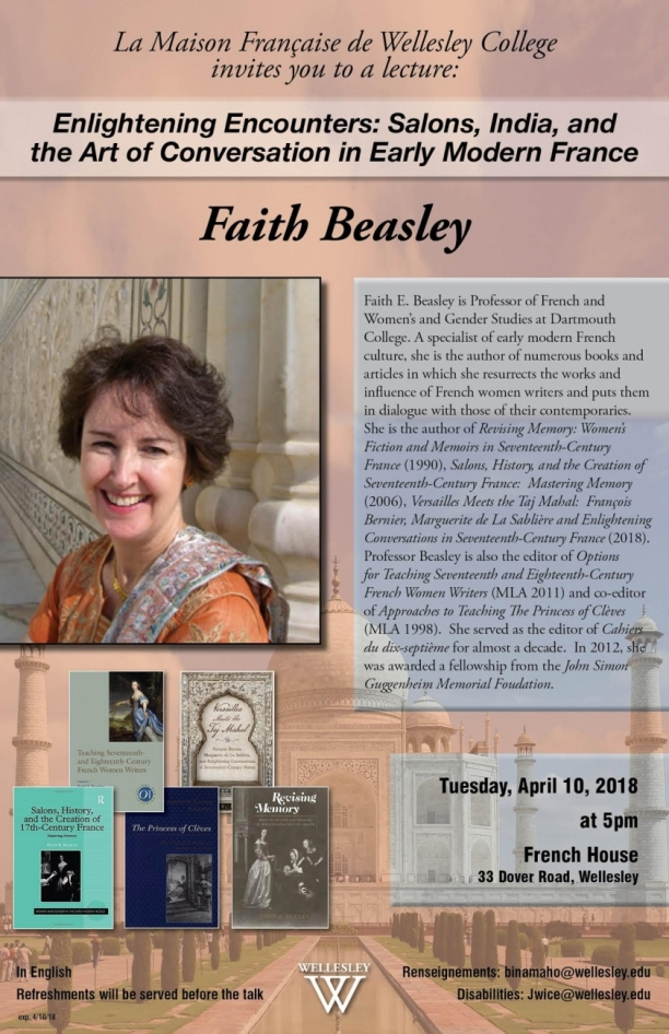 Faith Beasley: Enlightening Encounters: Salons, India and the Art of Modern Conversation in France