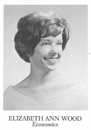 Betsy Knapp's Wellesley yearbook photo