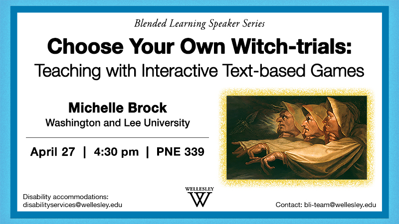 Choose Your Own Witch-trials Event poster