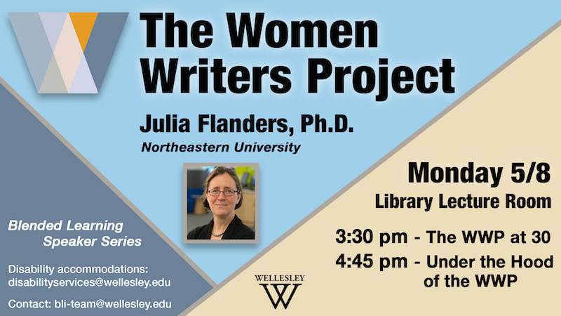 Women Writers Project Event poster