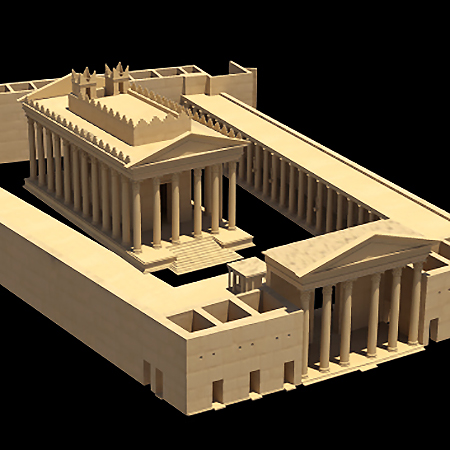 3D rendering of ancient ruins