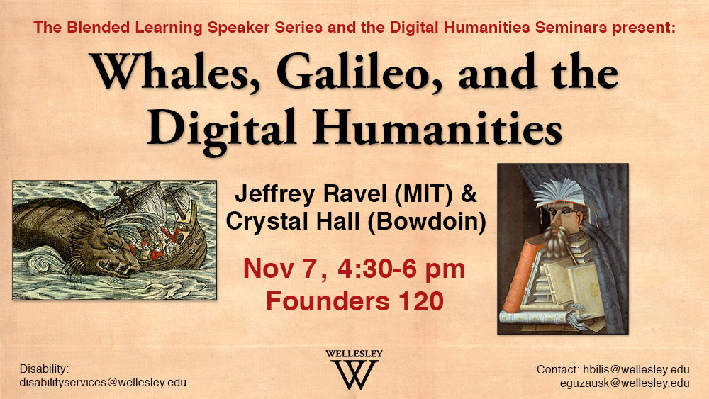 Whales, Galileo, and the Digital Humanities Event poster