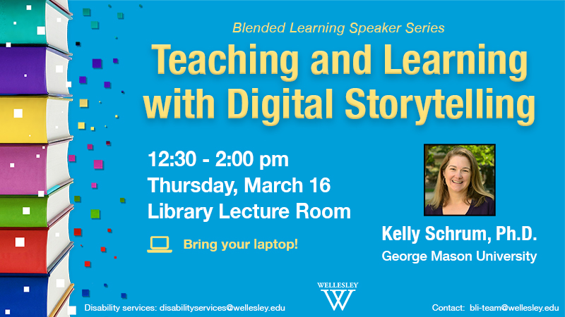 Teaching and Learning with Digital Storytelling Event poster