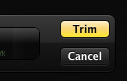 Yellow Trim button in QuickTime control panel