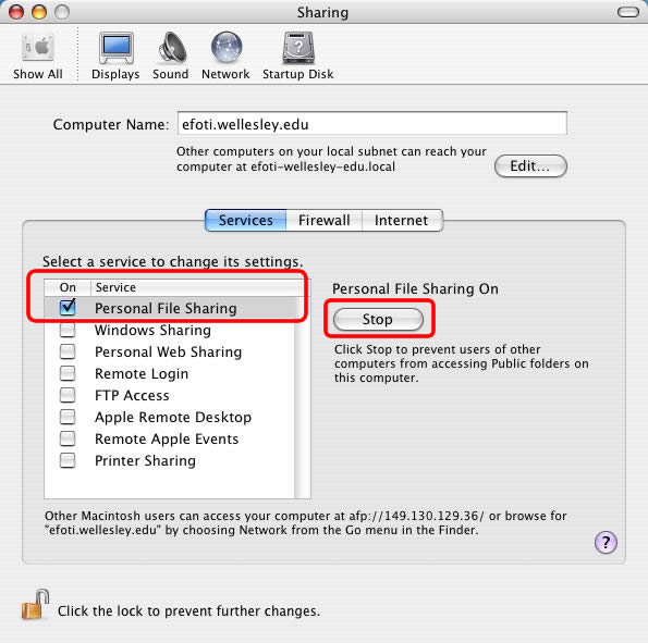 Sharing files in Mac OS X   Wellesley College