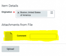 Expense report error on attachment